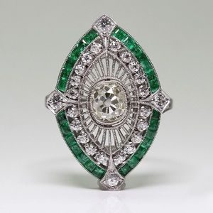 Vintage style Emerald ring